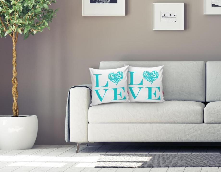Love Blue Home Kissen k529