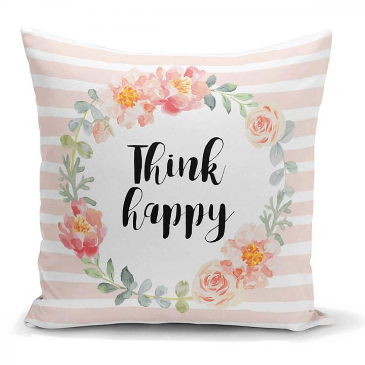 Think Happy Kissen